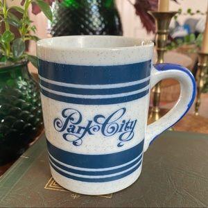 Vintage Stoneware Park City Utah Coffee Mug